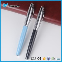 Smooth writing metal pen with comfortable feel fancy writing multicolors bic roller pen with brands printing
