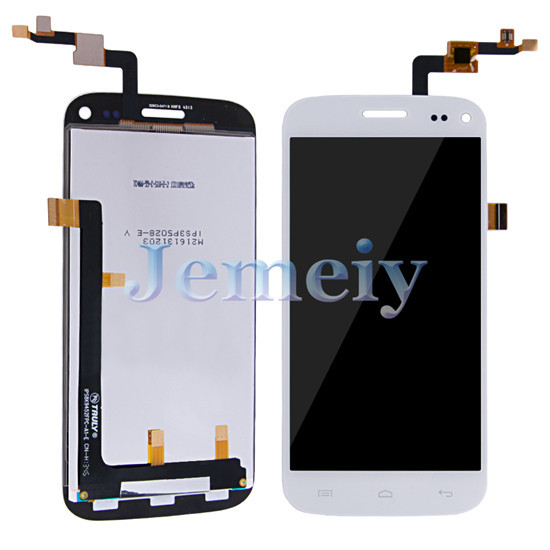 Phone Touch Panel Replacement Assembly White For Wiko Darkmoon, Touch Screen Digitizer + Glass Lens LCD Display + Tools
