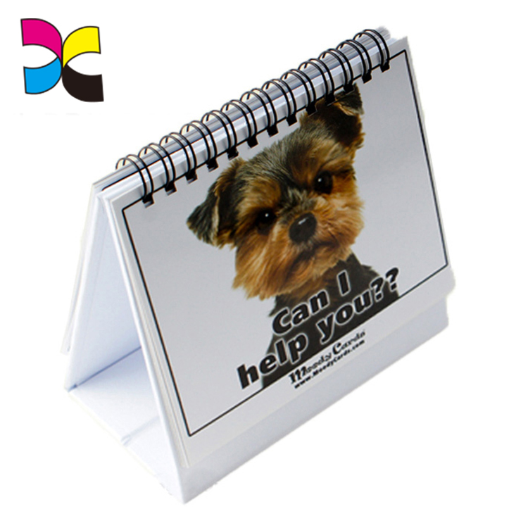 OEM printing custom printed daily spiral desk table planner calendar