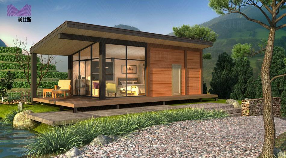 High end light steel structure prefabricated tiny house