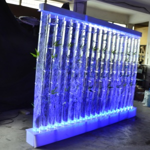 Led Lights Water Bubble Tube Wall Wedding Stage Backdrop Decoration
