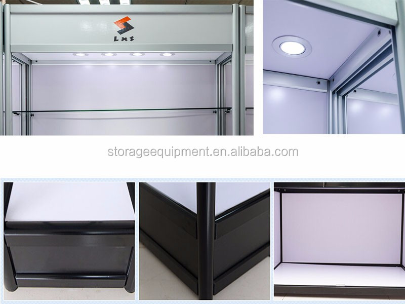 Used Display Cabinet With Glass Doors With Led Lights
