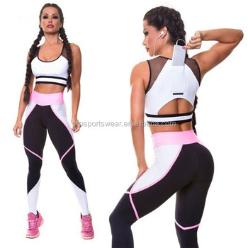 New Arrival Custom GYM Active Wear Sports Bra With Phone Pocket Fitness Yoga Pants Desi Woman Sexy Photo