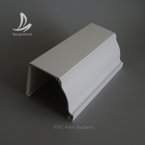 Philippines PVC Rain Gutter Collector Roof Water Drainages PVC Rain Gutter Channel