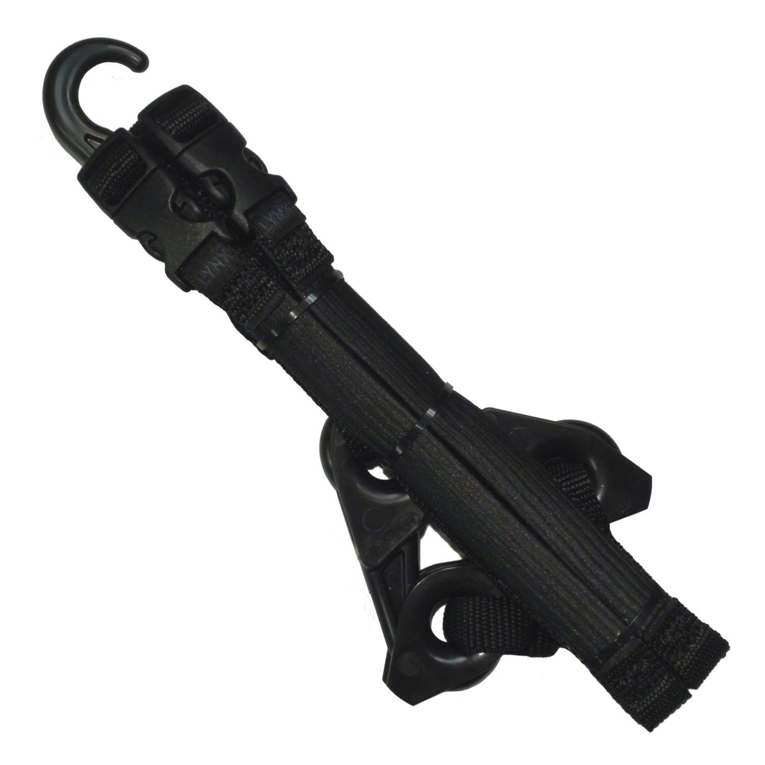 LYNX Hooks® Tactical Black Adjustable, Interlocking Gear Straps
