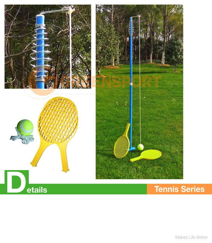 Beau GSRS2W POPULAR CERTIFIED ITEM TENNIS RACKER STAND/Swing Pole With Tennis  Ball/Backyard