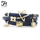 Endless New Styles Wholesale Leather Endless Bracelet With Magnetic Charm
