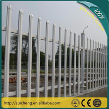 "Guangzhou Factory Free Sample 2 rails pvc white picket fence/48""highx8ft wide white fence"