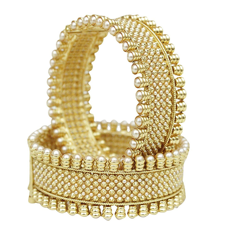 Engagement & Wedding Goldplated Indian Traditional Designer Kada Bangle Bracelet Jewellery Sz 2*8 Harmonious Colors