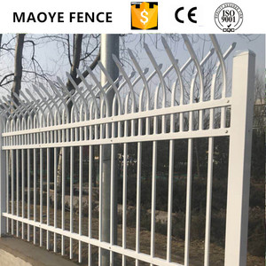 MY003 Modern steel garden fence gates design/ black aluminum fence panels