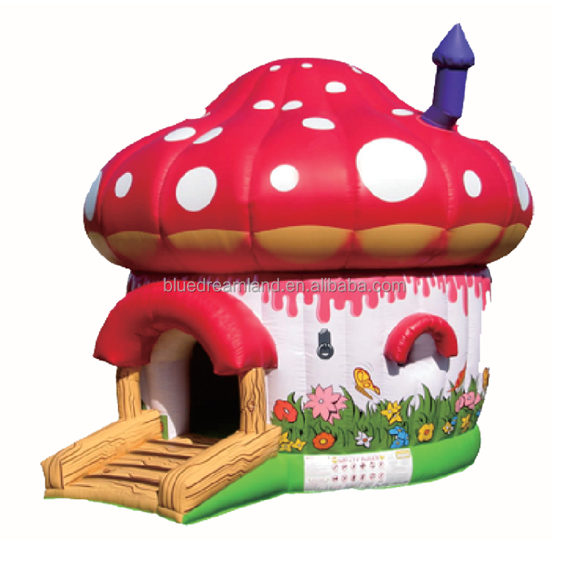 Brand new type cheap mini mushroom adult babyinflatable bouncer for sale