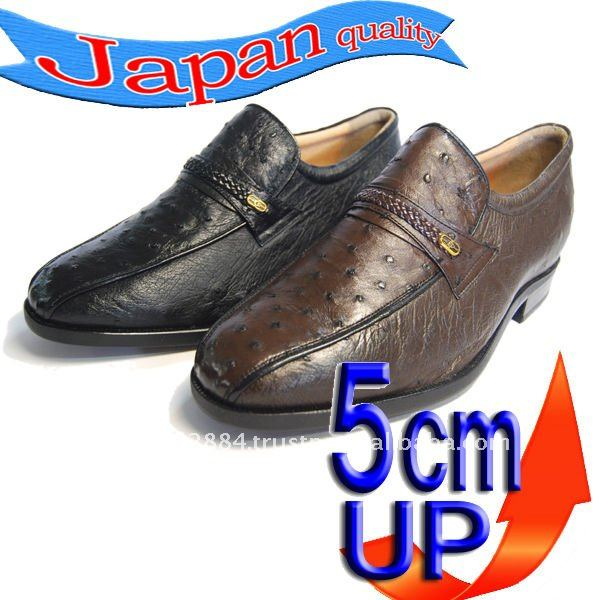 5cm Height increasing up Elevator 66 Men's shoes with leather shoes No ostrich shoes wAwrZYgfq