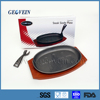 Large Black Colour Iron Non-stick Coating Grill Fry Pan
