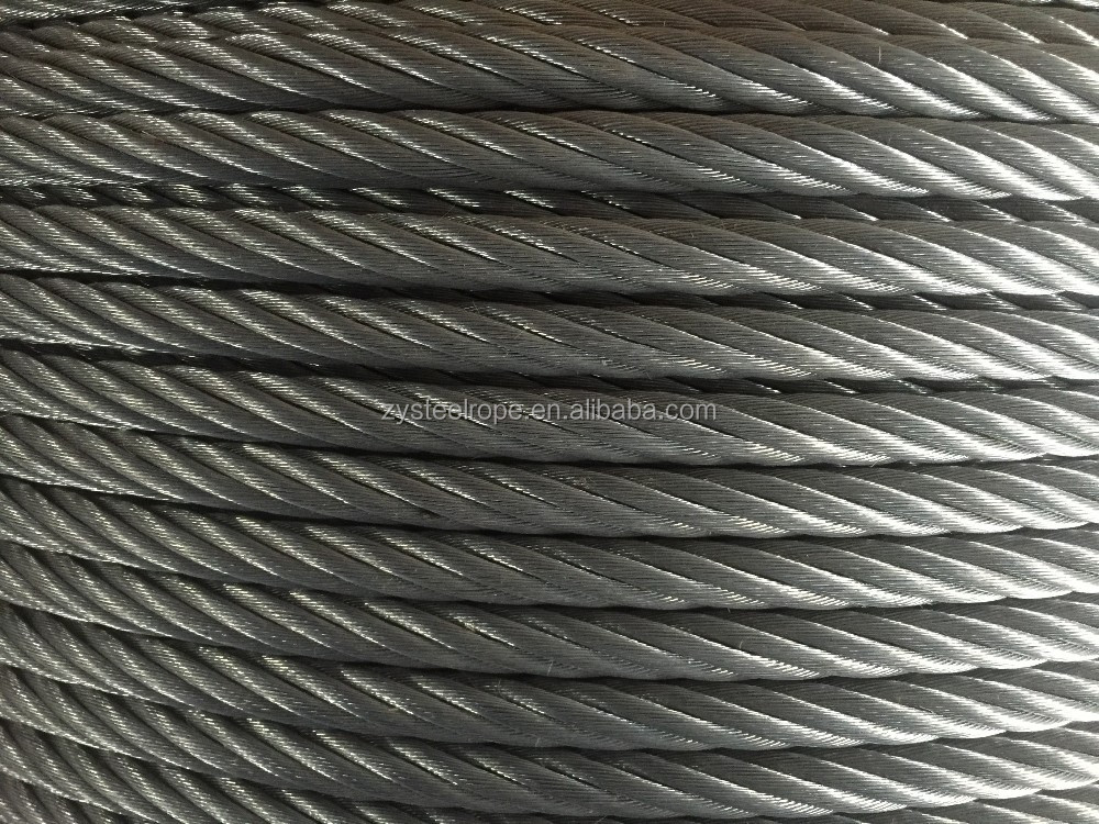 without coating yellow greased derricking export abroad steel wire ropes 7*7 36m