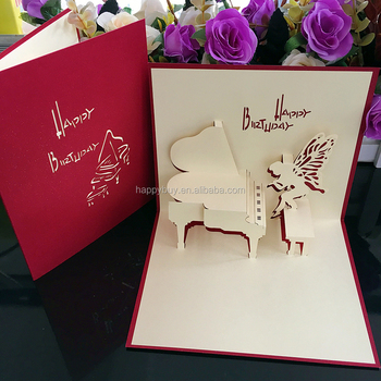Piano 3d pop up birthday greeting card laser cutting and handmade piano 3d pop up birthday greeting card laser cutting and handmade creative card m4hsunfo