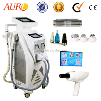 AU-S545 The Best 3 in 1 Yes Q-Switch Q SWITCHED ND:YAG LASER+OPT+RF Machine