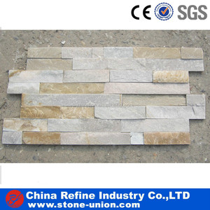 split face stone yellow slate tile