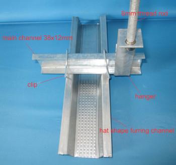 False Ceiling Metal Frame Drywall Steel Profile Suspended
