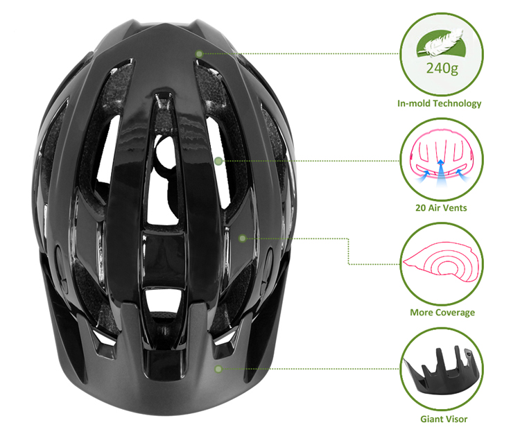 2018 Factory Direct Professional Mountain Bike Helmet With Peak