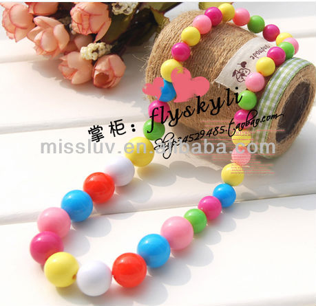 2014 Sweety color arcylic beaded jewelry 2014 Children DIY beaded jewelry Latest candy color beaded jewelry