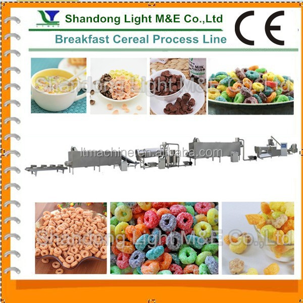 Extruded Choco breakfast cereals processing machinery