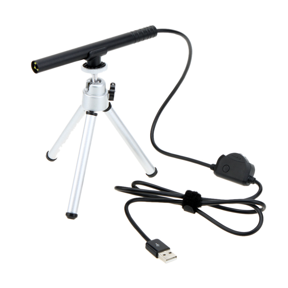 300X Portable Mini USB Digital Microscope Endoscope for Android Magnifier Camera 0.3MP 4LED HD Manual Focus with Tripod