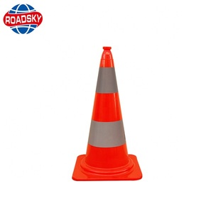 Street Safety Colored PVC Traffic Cone Safety Cone Sign