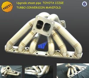 UPGRADE STEAM PIPE TURBO EXHAUST FOR TOYOTA SUPRA 2JZGE T4 TURBO MANIFOLD  NA-TURBO JZA80 93-98