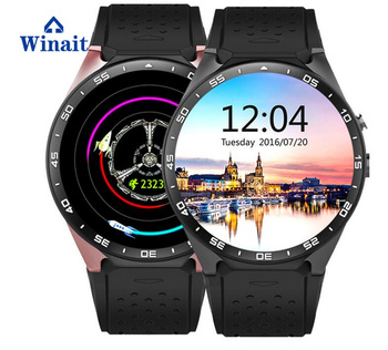 2017 OEM Smart Watch Phone 3G Wireless BT Smart Watch KW88 with WIFI GPS heart Rate Sensor