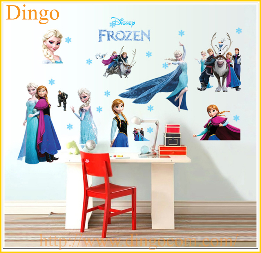 Frozen Wall Stickers Wholesale Elsa Queen And Snowflake Bedroom Decoration  Stickers Part 81