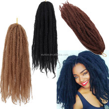 Synthetic Kinky Crochet Twist Hair Bulk/Afro twist kinky crochet braids/afro curl marley braid hair dreadlocs hair extension