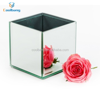 Wholesale Clear Glass Mosaic Mirror Vase Antique Flower Arrangements