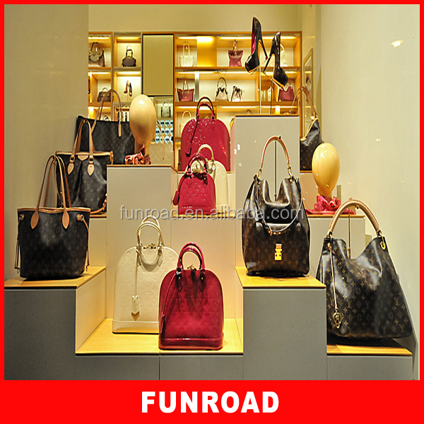 Shop Name Board Designs For Bag Display Showcase Cabinet For Store ...