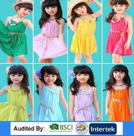 cad81ea77de Пользовательские девушки хлопка платьице конструкций в яркий цвет нарядное  платье для девочек платья для девочек