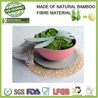 japanese best bamboo fiber eco friendly BIO tableware rice bowls set, bamboo disposable dishes for family