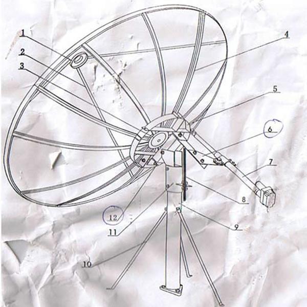 210cm all weather operation c band satellite aluminum mesh dish Satellite Dish C-Band Programming 210cm all weather operation c band satellite aluminum mesh dish antenna