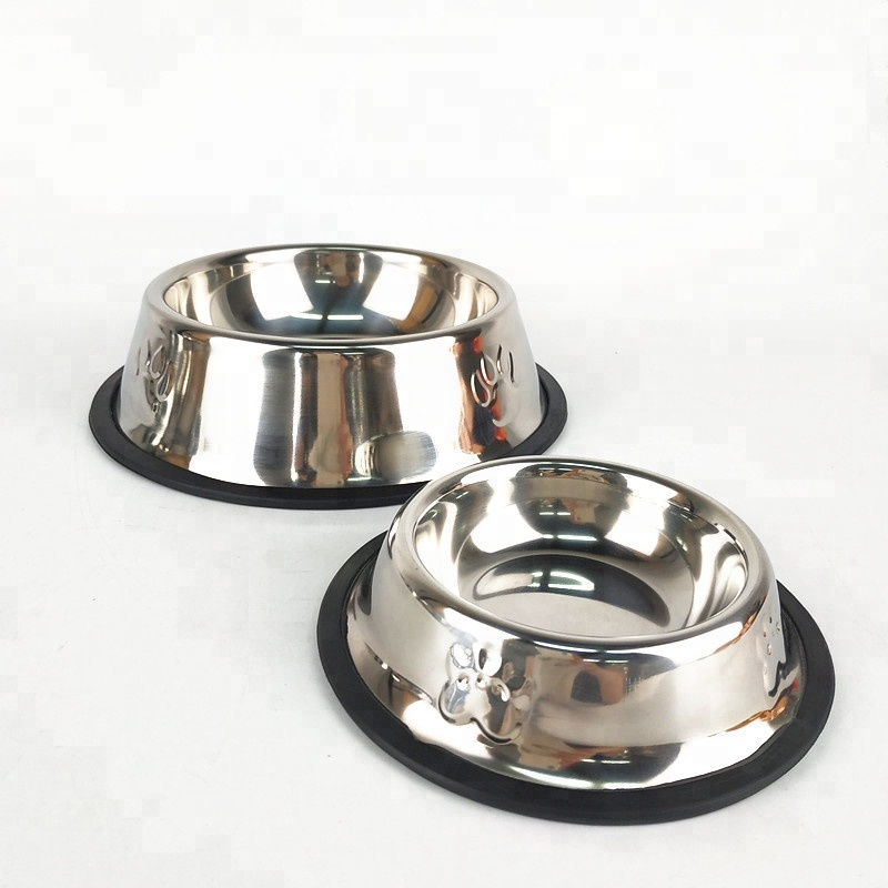 Mail order promotion All sizes Metal Non Spil Pet Food <strong>Bowl</strong> stainless steel <strong>dog</strong> <strong>bowl</strong>