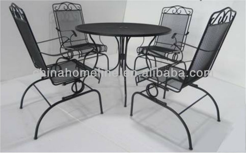 Steel Frame With E-coating Patio Table SET00011-2
