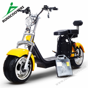 RUNSCOOTERS 2018 yongkang factory CE EEC fat tire citycoco scooters 1000w 20ah