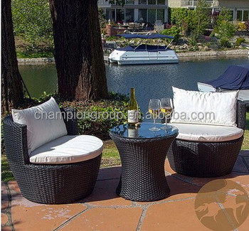 Outsunny 3piece Outdoor Stacking Rattan Wicker Patio Chair Set