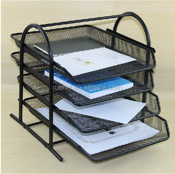 Tabletop 4 Tier Customized Metal Office File Stand