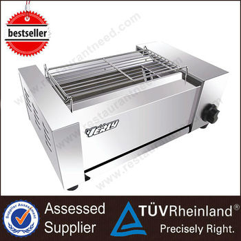 Guangzhou Stainless Steel 5/6/7 Burner Industrial Gas barbecue grill
