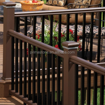 Outdoor Horizontal Aluminum Fence Deck Railing Parts