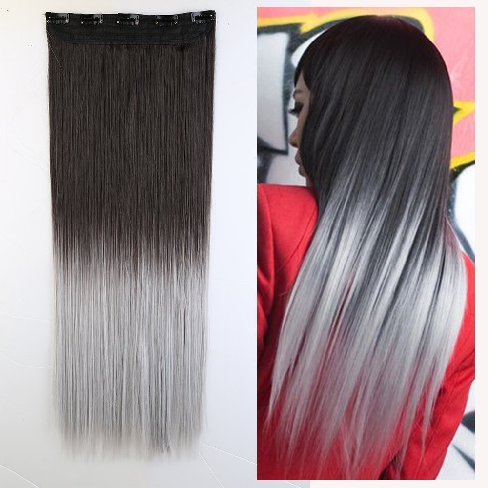 Buy S Noilite Ombre Dip Dye Color Half Full Head Clip In Hair