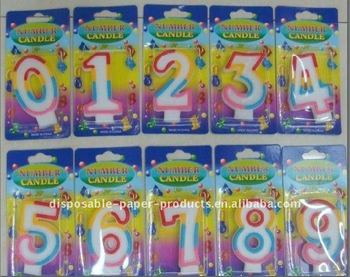 Wholesale Numeral Candle Birthday Candles
