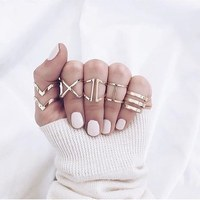 JR008 Fashion Gold Color Open Design Stainless Steel Finger Gold Ring Designs For Girls