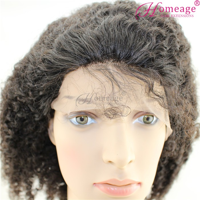 homeage gorgeous afro kinky curl lace front wigs human lace wigs with baby hair