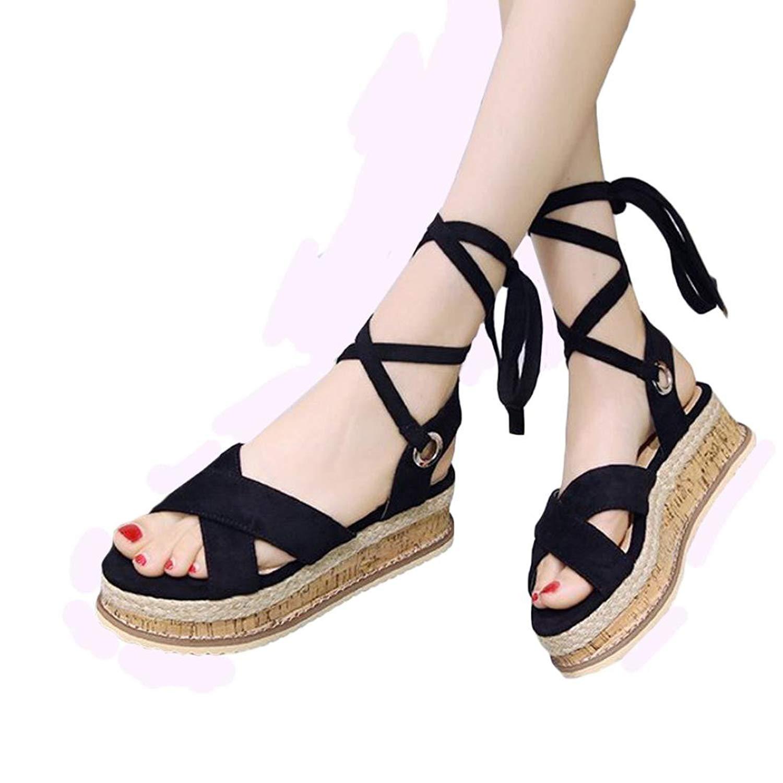 bd0981c7605c2 Get Quotations · Pervobs Sandals Big Promotion! Women Summer Wedges Flip-Flop  Sandals Fashion Flat Bandage Waterproof