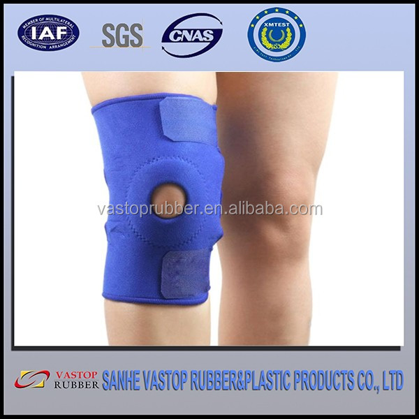Black Spring Support Adjustable Sports Knee Pads Knee Brace