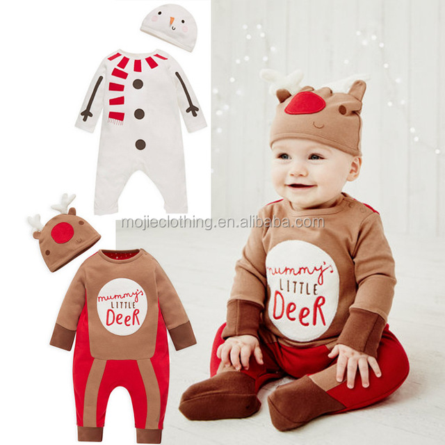 f1338562e Christmas Gifts Baby boys rompers 2017 One-piece baby Costumes kids long  sleeve spring autumn